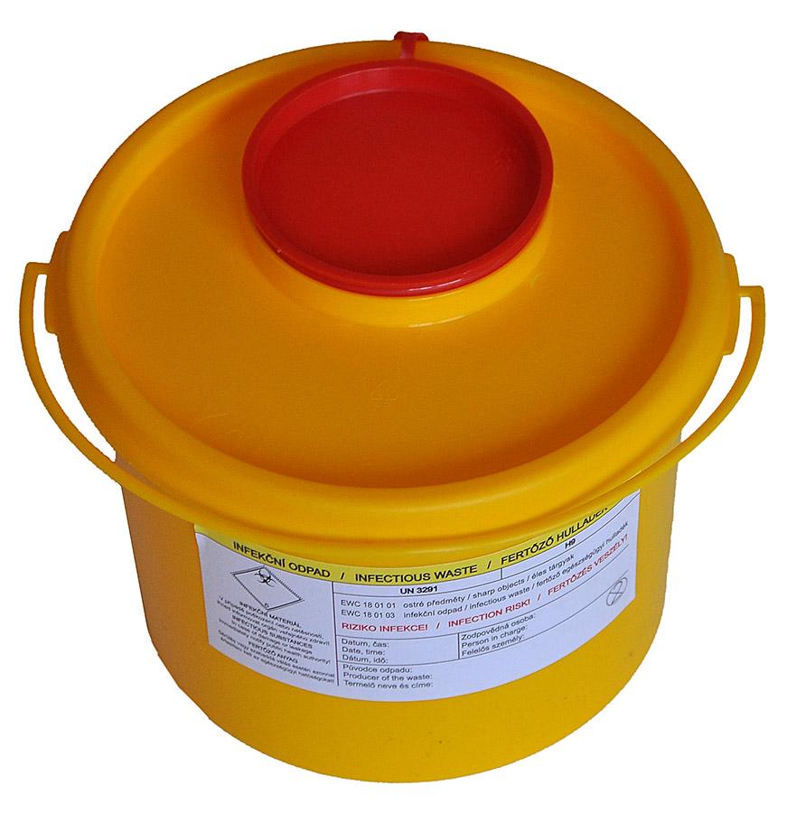 BIOHAZARD - NÁDOBA NA INFEKČNÍ MATERIÁL 1 litr
