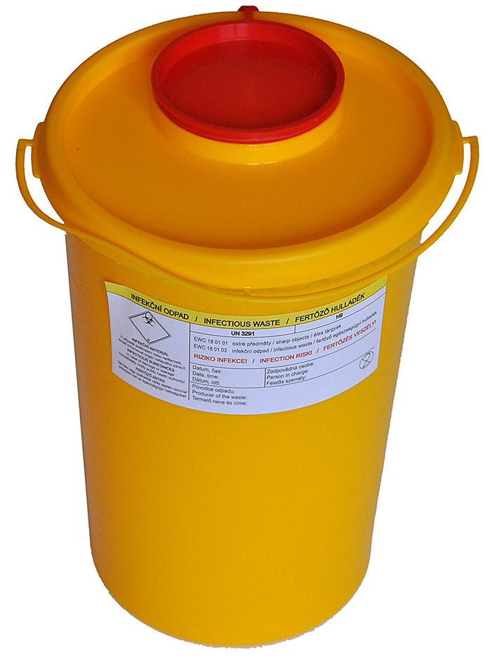 KLINIK BOX - NÁDOBA NA ZDRAVOTNÍ MATERIÁL 2 litry