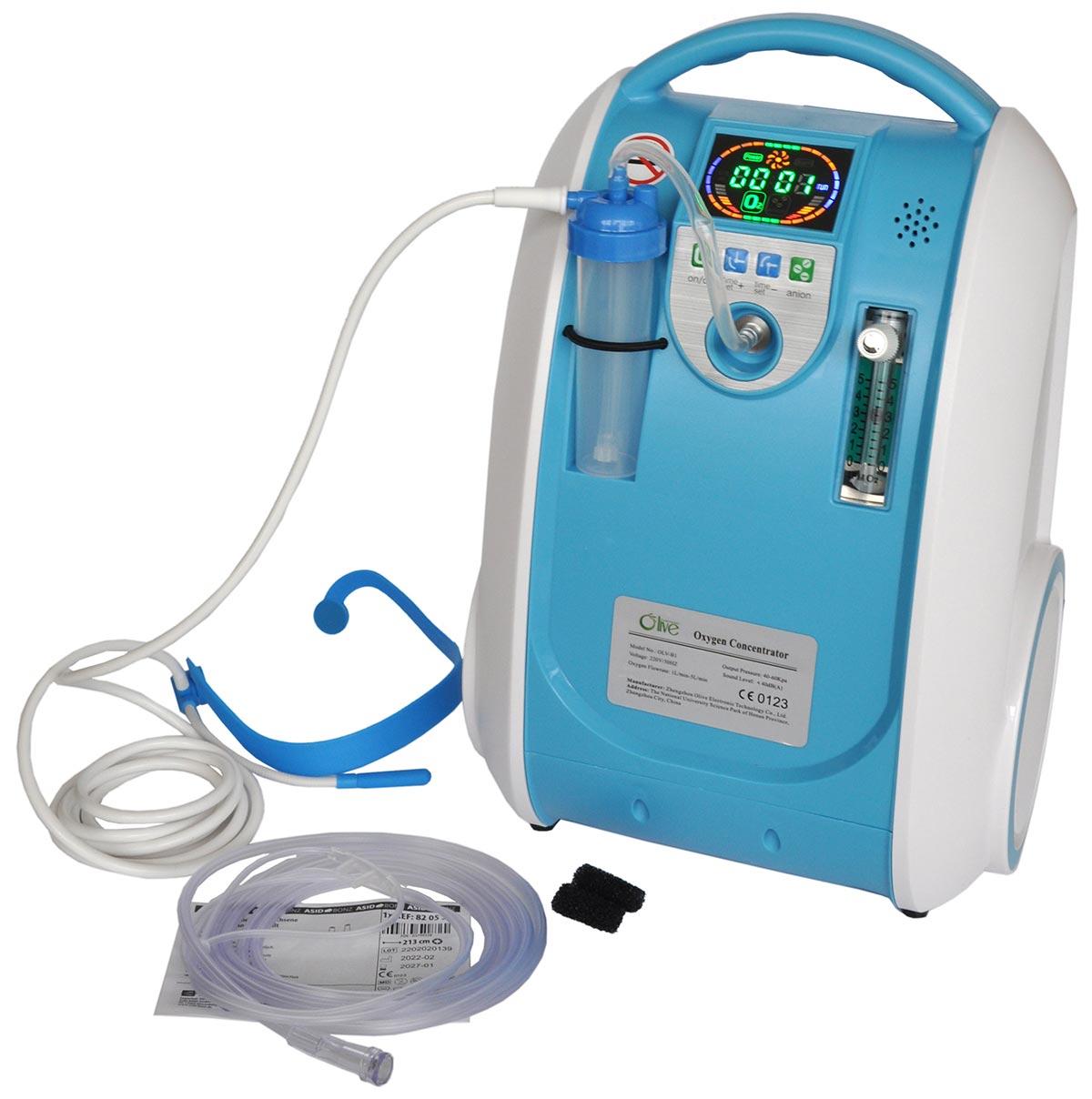 OLIVE Electronic Technology Co.Ltd. KYSLÍKOVÝ KONCENTRÁTOR OLIVE BLUE pro domácí používání