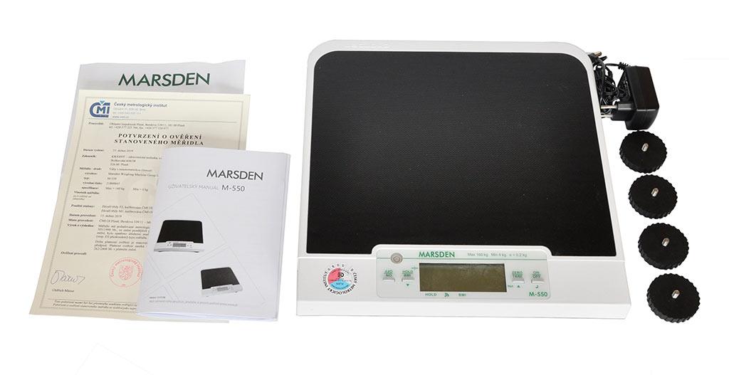 MARSDEN Group UK Ltd LÉKAŘSKÁ VÁHA MARSDEN M-550 (ověřená CM19)